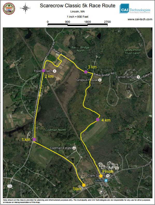 Scarecrow Classic course map